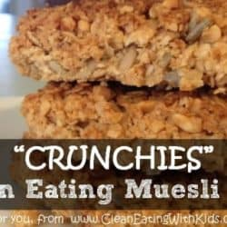 How to Make CRUNCHIES – My Kids Favourite Clean Eating Muesli Bars