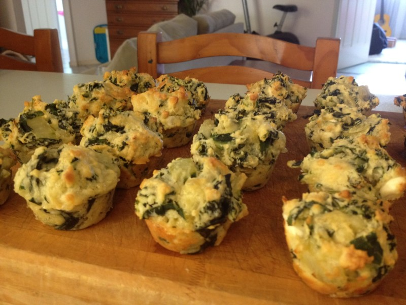 Clean Eating Spinach Muffins