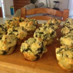 Spinach and Cheese Muffins that even fussy kids will eat.
