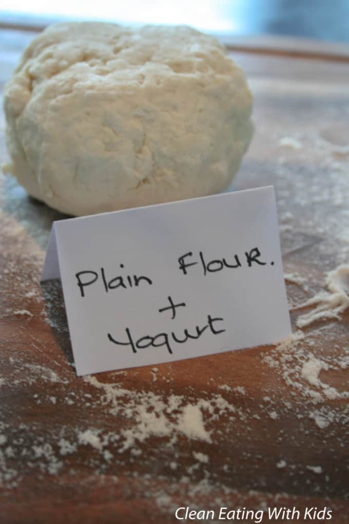 Two ingredient pizza dough using plain flour