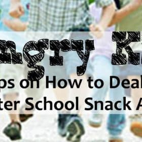 4 After School Snacking Tips (that won't ruin their appetite for Dinner)