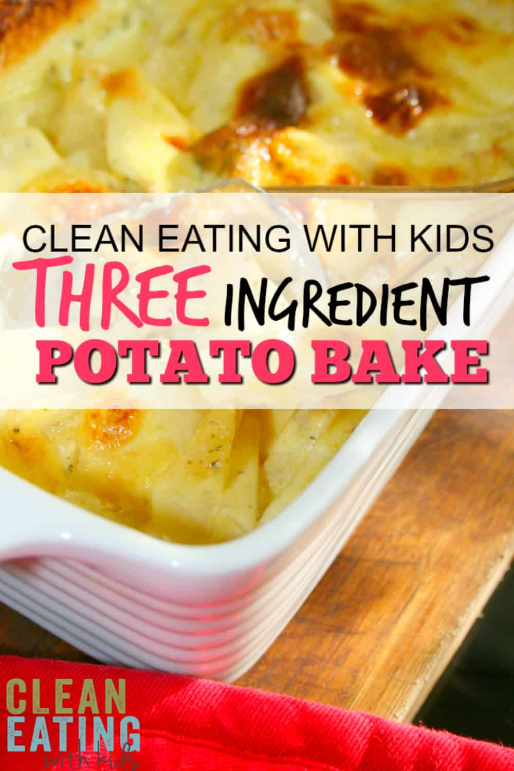Looking for an easy, REALLY tasty potato bake recipe? This 3 Ingredient Potato Bake Recipe is so Easy - Even my husband can make this one. That is saying a lot!