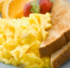 Scrambled Eggs on Toast - Perfect for school mornings.