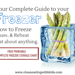 How to Freeze Food Safely (with handy print out and keep Freezer Storage Guide)