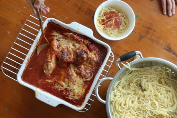 chicken parmigiana - clean eating with kids