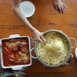 Oven Baked Chicken Parmigiana (Only three Ingredients and Clean) .