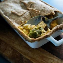 Creamy Chicken and Butternut Pumpkin Pie with Wholemeal Crust