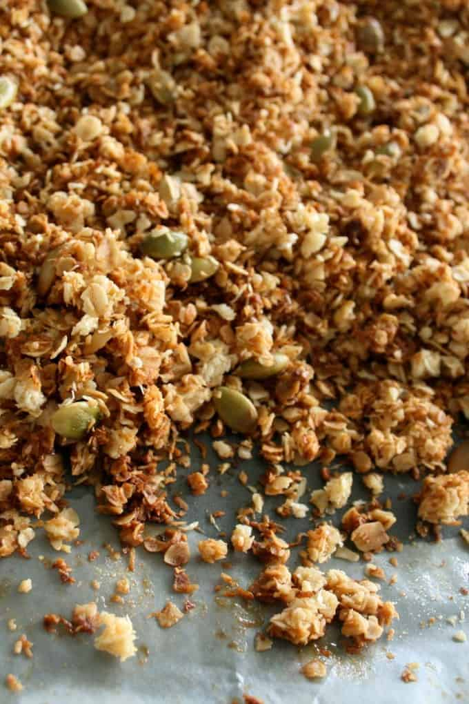 Easy Clean Eating Granola for Kids
