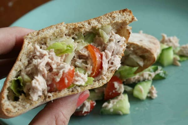 tuna salad and pita pockets