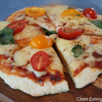 Clean Eating Classic Margherita Pizza (with two ingredient pizza dough)