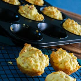 Cheese and Bacon Bites (Perfect for School Lunch Box)