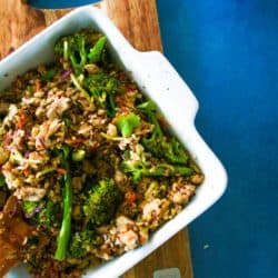 Clean Eating Chinese Chicken Fried Rice (Perfect dish if you are introducing your children to brown rice for the first time).