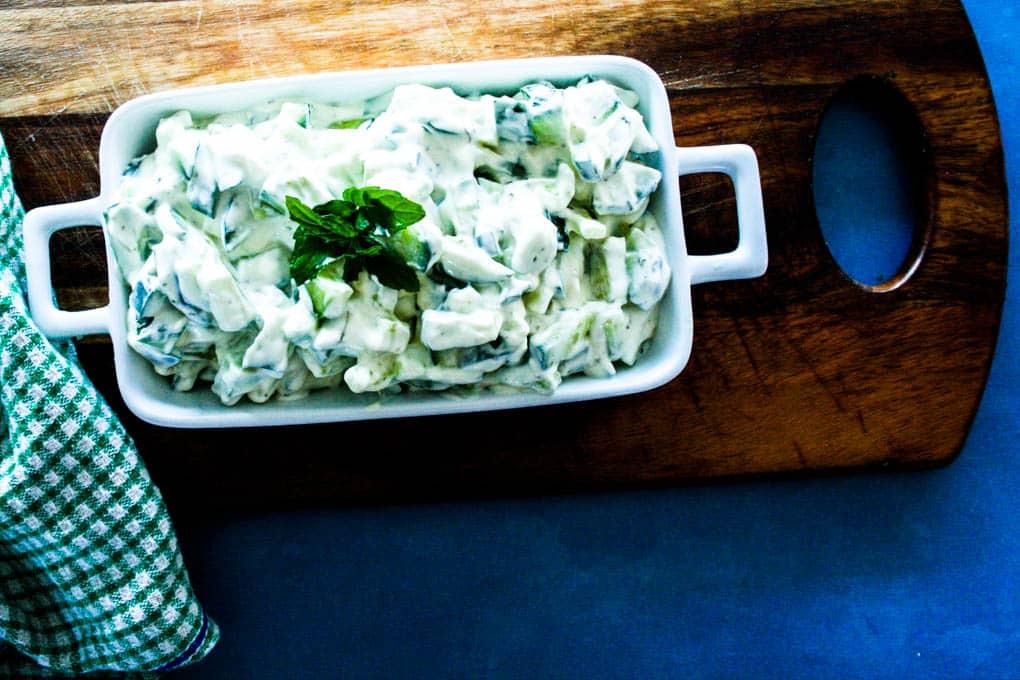 tzatziki creamy cucumber salad