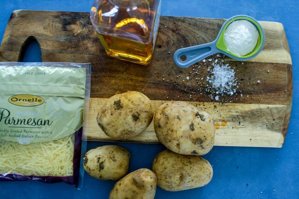 clean eating parmesan potatto chips