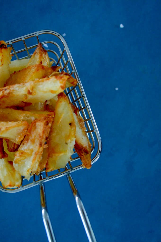 clean eating parmesan potato chips