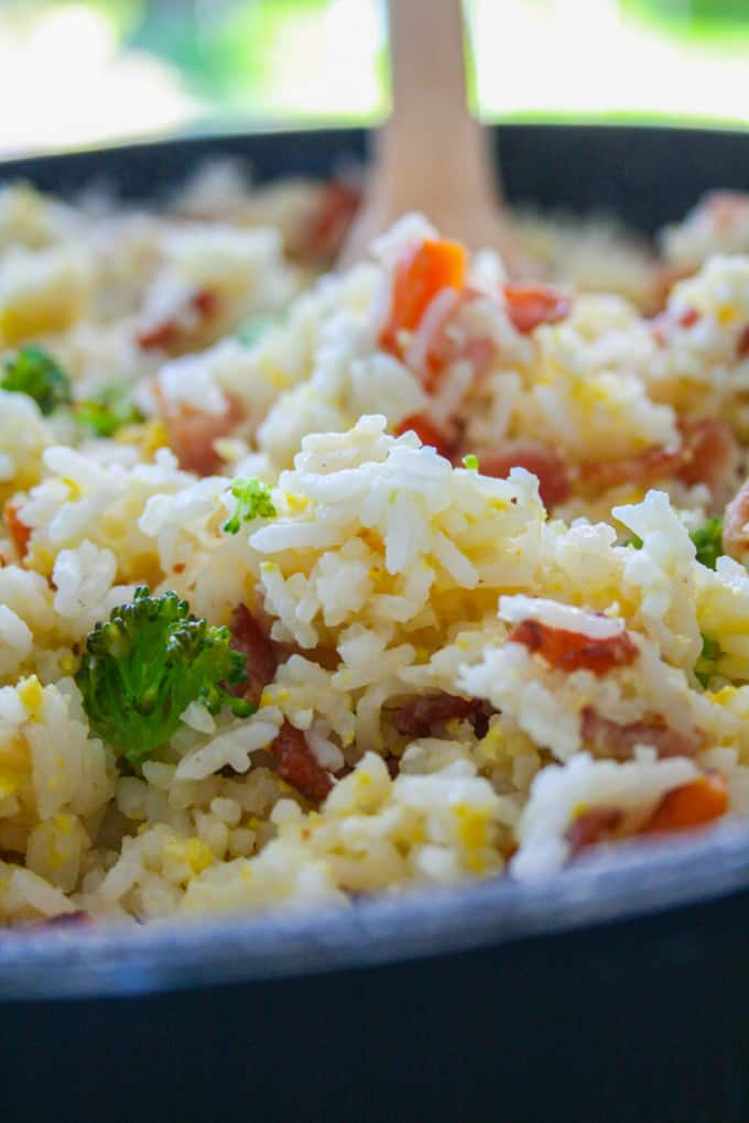 clean eating quick fried rice