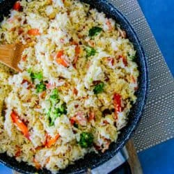 Clean Eating Quick Fried Rice (Ready in 12 min flat)