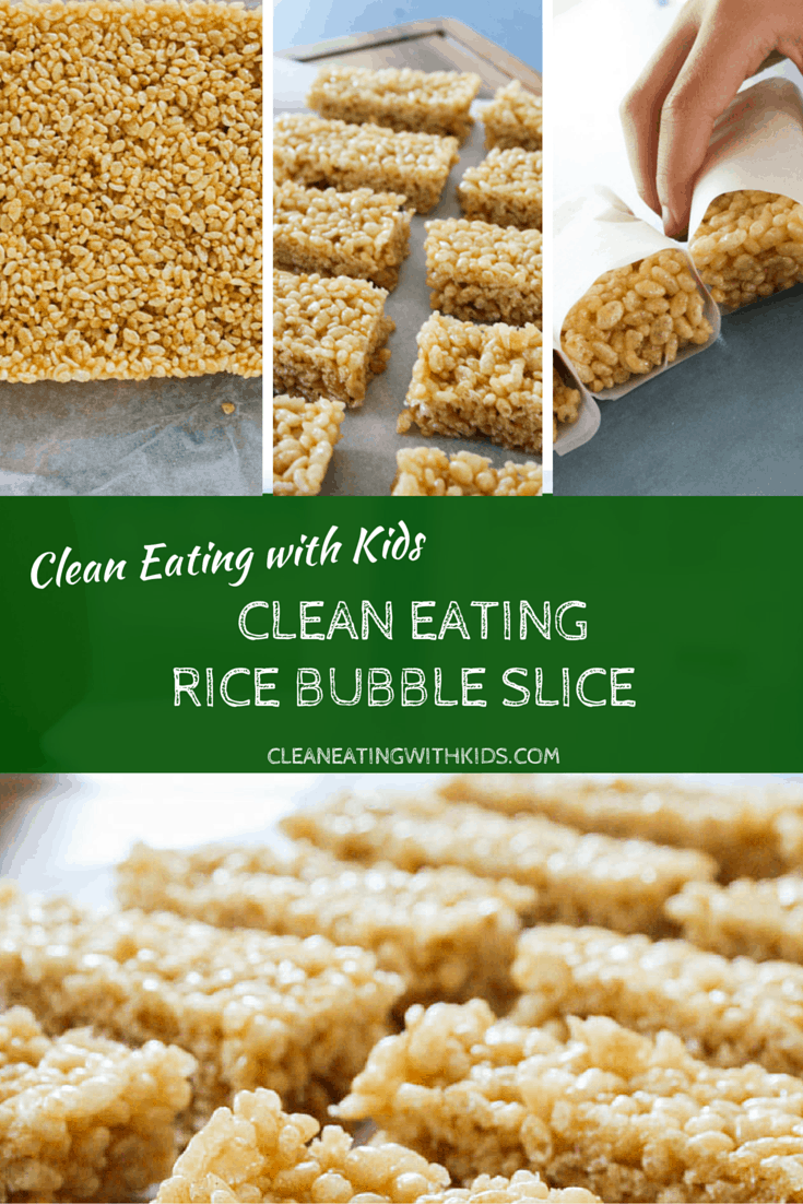 Clean Eating Rice Bubble Slice