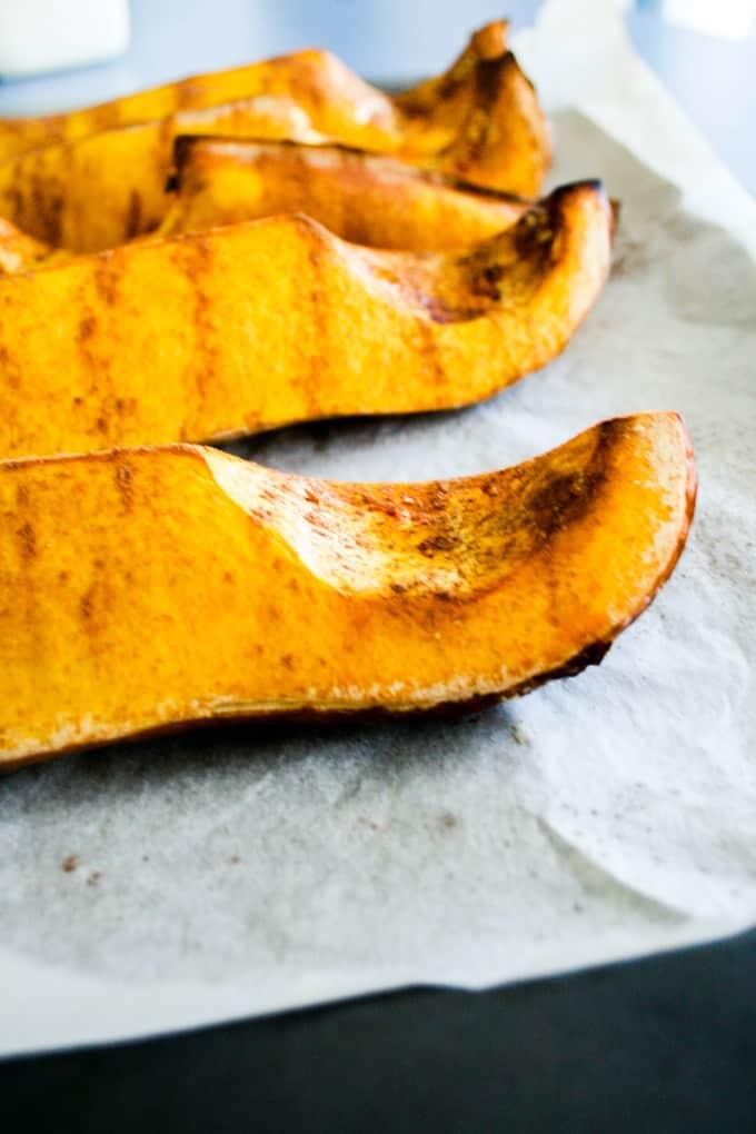 clean eating roasted butternut pumpkin