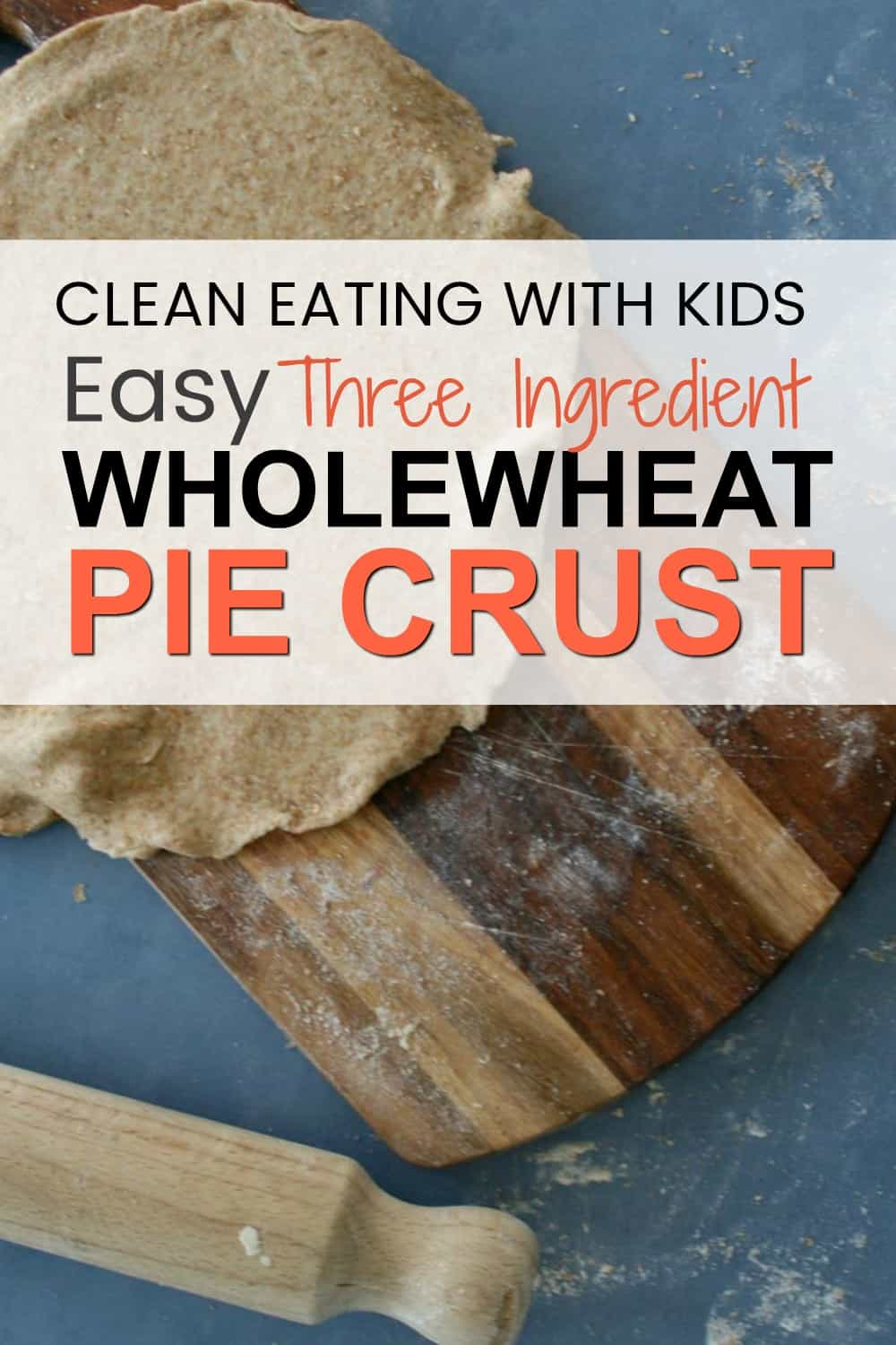 Just because you're eating healthy, doesn;t mean you have to give up pie pastry! This Clean Eating Wholewheat pie pastry is the perfect topping for chicken or beef pies. #cleaneating #wholewheatpiecrust