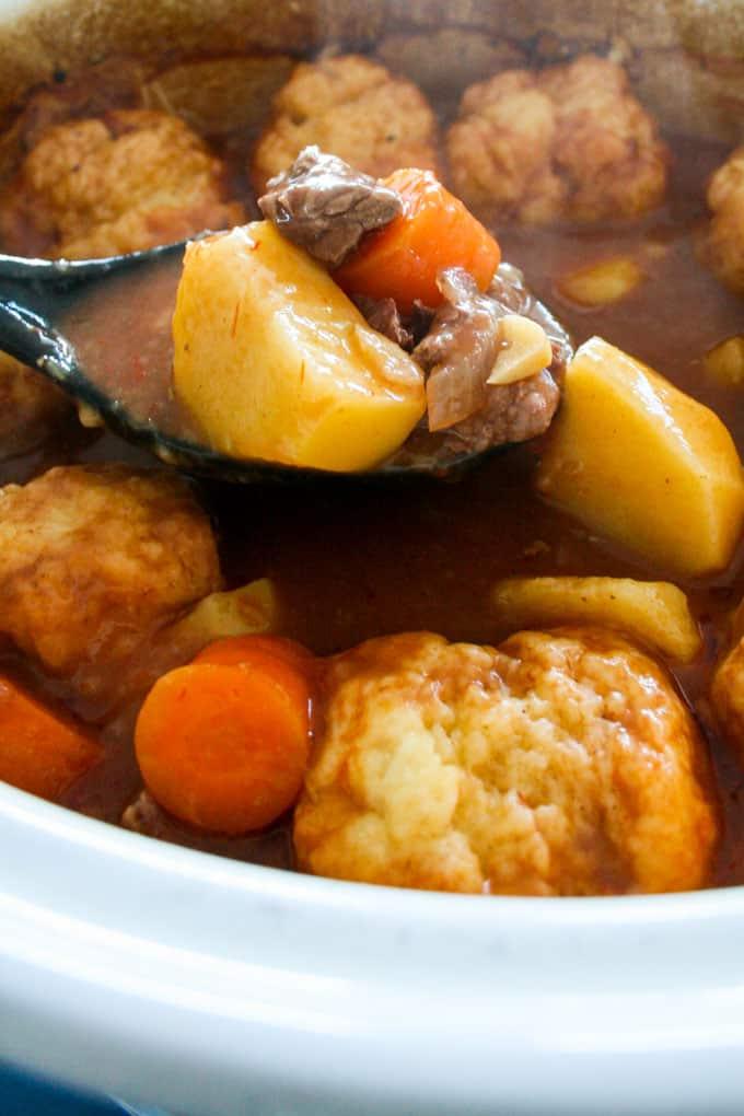 Clean Eating Beef Stew and Dumplings-9