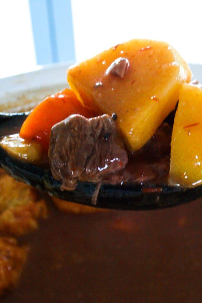 Clean Eating Beef Stew and Dumplings-7