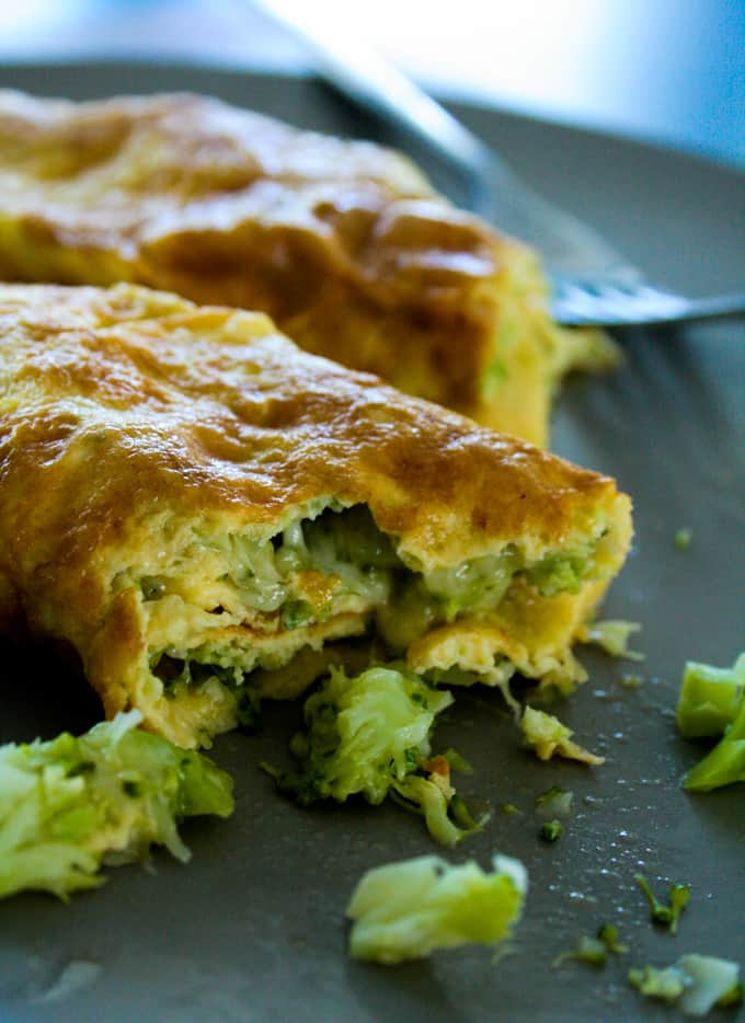 Cheese and Broccoli Omelette