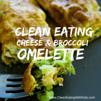 Clean Eating Broccoli and Cheese omelette-square