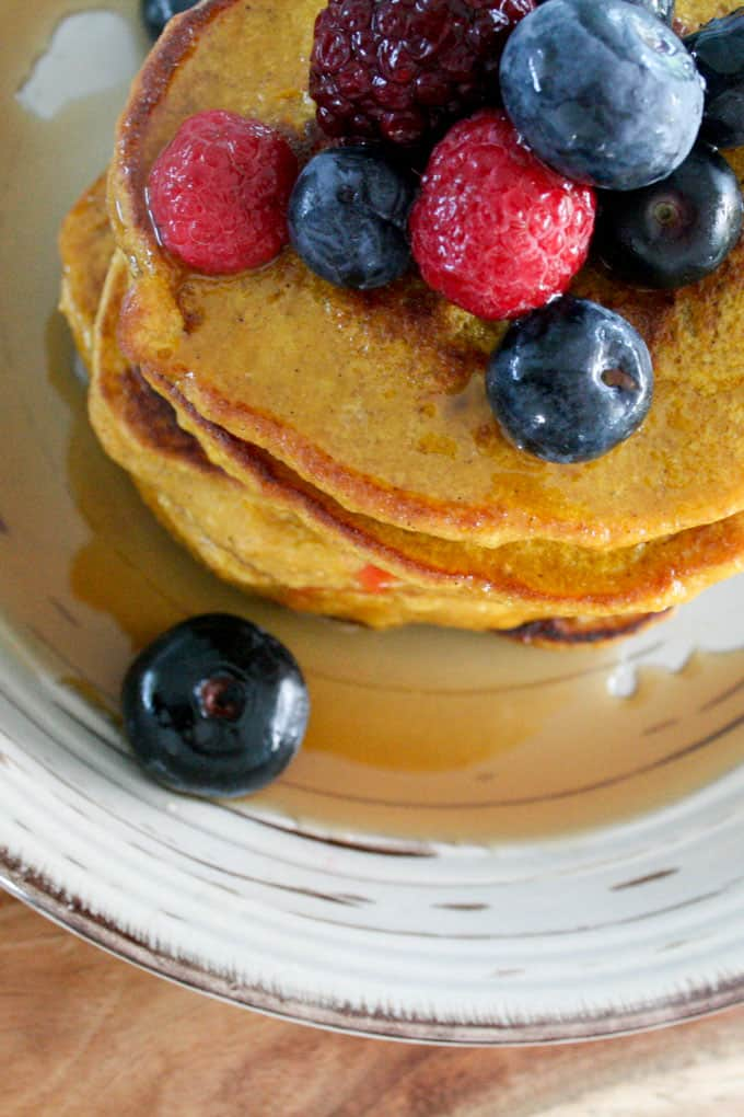 Clean Eating Pumpkin Pancakes-16