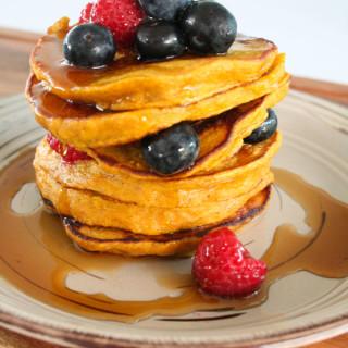 Clean Eating Pumpkin Pancakes-16