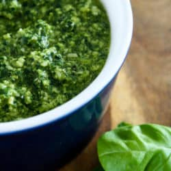 Clean Eating Spinach and Basil Pesto
