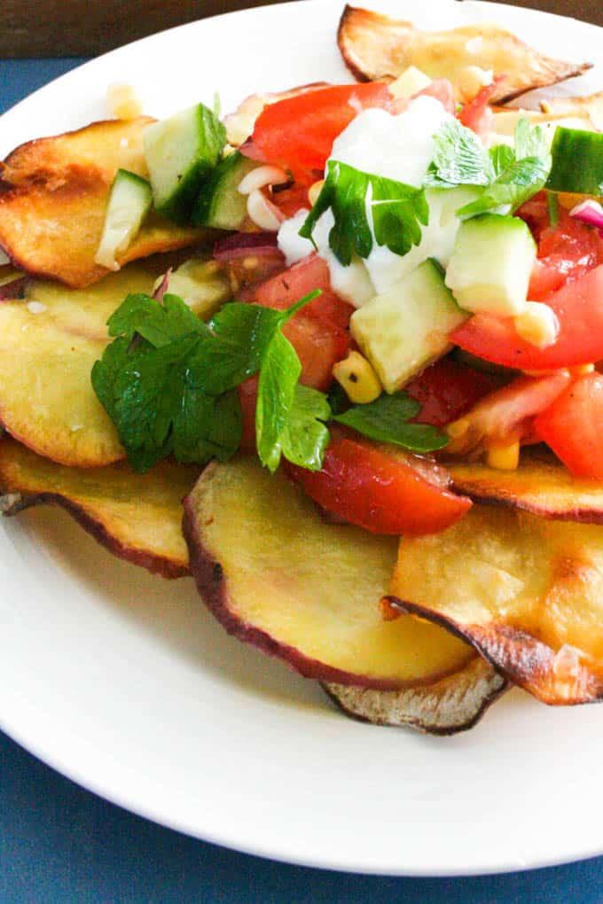 sweet potato fries and tomato salsa