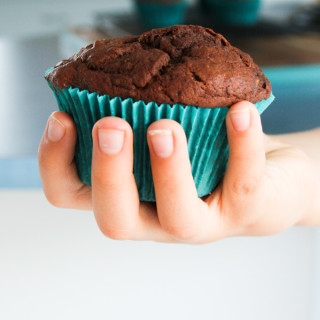 clean eating chocolate banana muffins-11