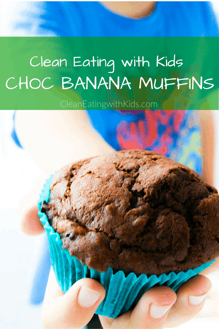 clean eating chocolate banana muffins