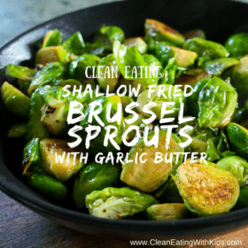Shallow Fried Brussel Sprouts in Garlic Butter