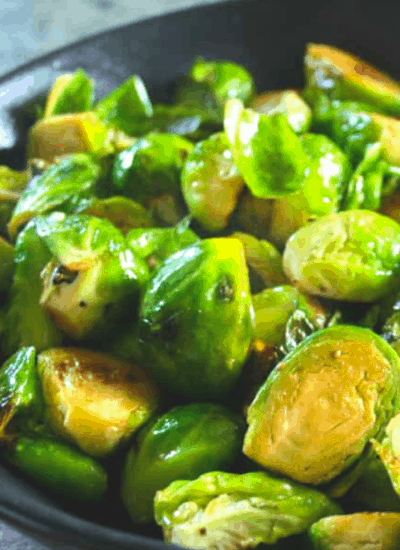 brussel sprouts fried in butter