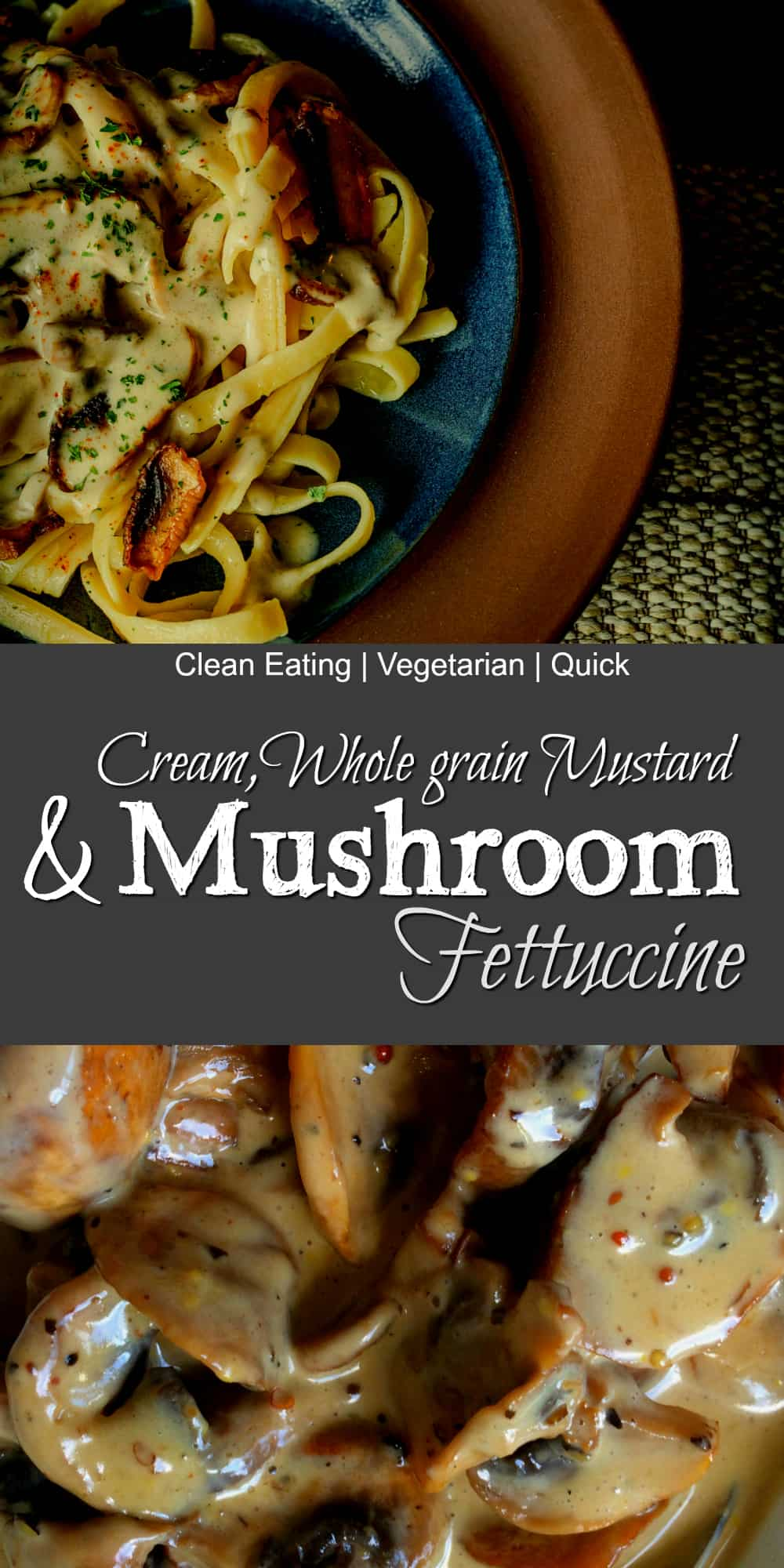 clean eating mushroom fettuccine