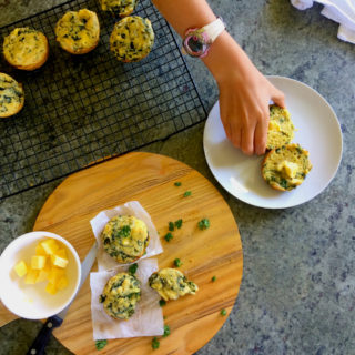 clean eating spinach and feta breakfast muffins