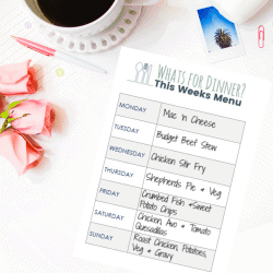 How to Meal Plan + Free One Page Printable Meal Planner