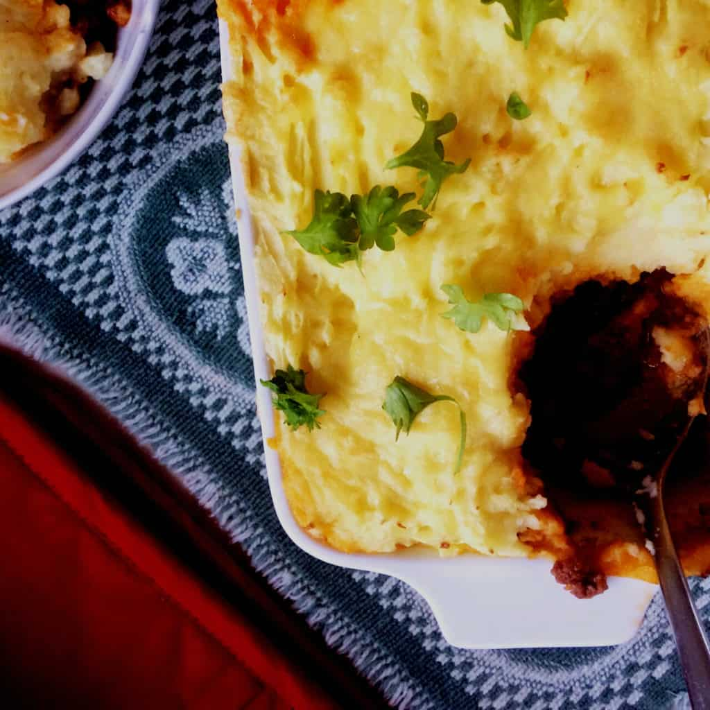 clean eating cottage pie for kids