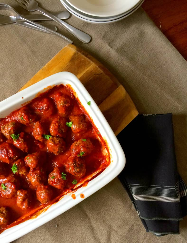 clean eating meatballs and tomato sauce9