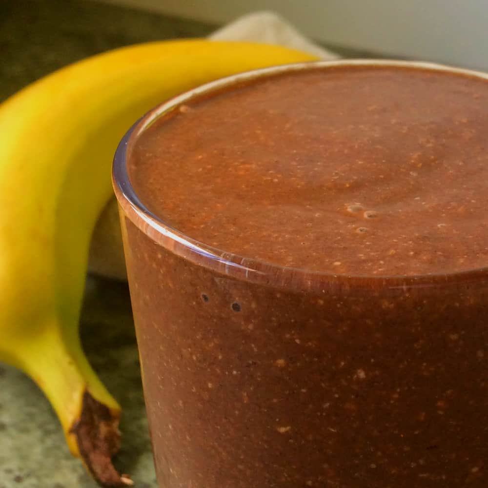 clean eating thick chocolate shake