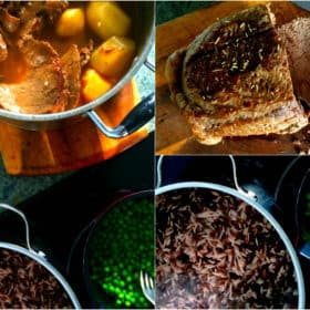 Beef Pot Roast with Buttered Peas & Domino Rice