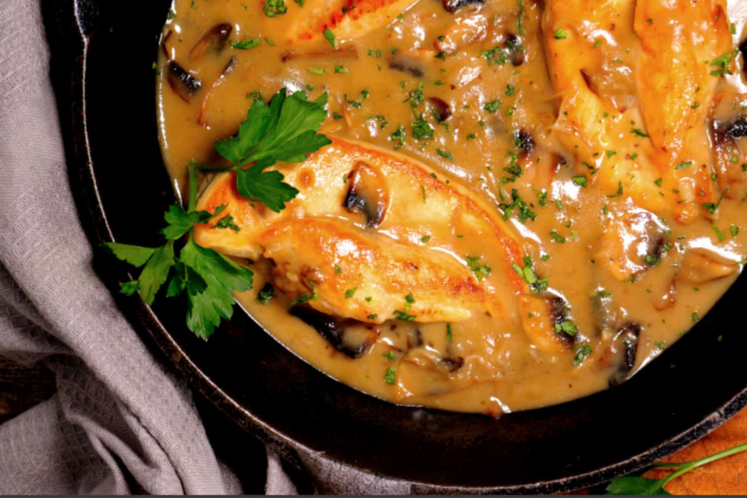 clean eating CHICKEN WITH mushroom sauce 1500X1000