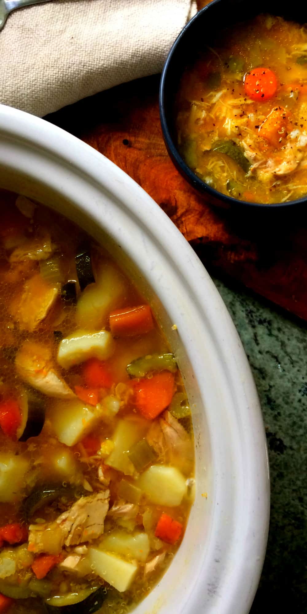 clean eating chunky chicken soup