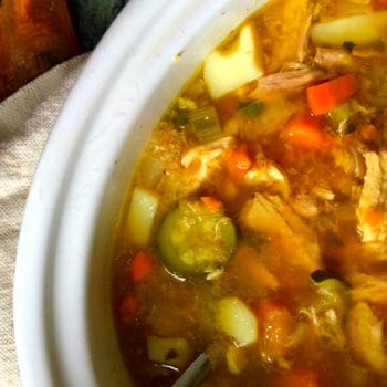 clean eating chunky chicken soup5