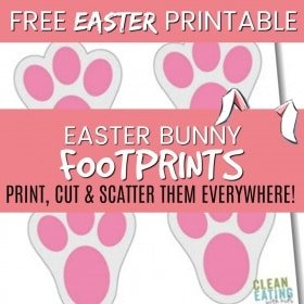 FREE PRINTABLE: Easter Bunny Footprints