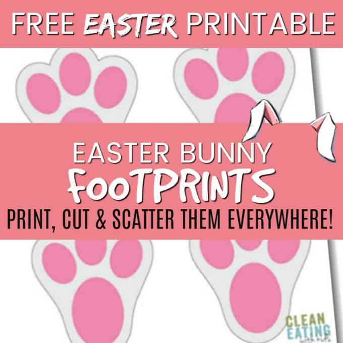 image regarding Printable Easter Bunny Footprints identify free of charge printable bunny footprints 1000x1000 - New Consuming