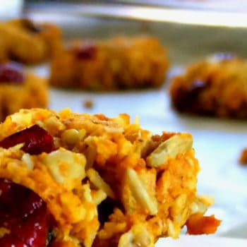 Chunky Oatmeal, Coconut & Cranberry Cookies