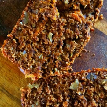 real food recipe - carrot and walnut loaf